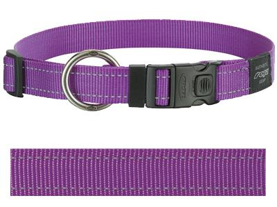 Rogz for dogs lumberjack halsband paars