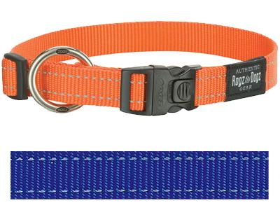 Rogz for dogs fanbelt halsband blauw