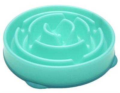 Voerbak slo-bowl feeder drop teal lichtblauw