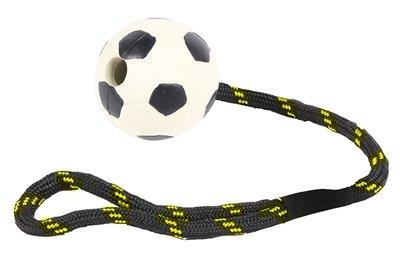 Happy pet tough toys werptouw met rubber voetbal