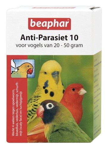 Beaphar anti-parasiet 10 vogel (20-50gr)