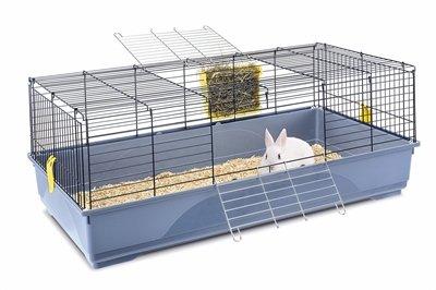 Imac konijnenkooi easy blauw / donkerblauw