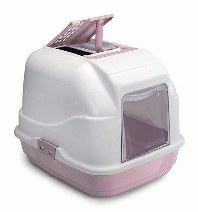 Imac kattenbak easy cat roze / wit