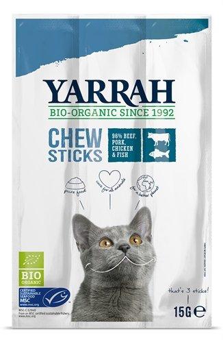 Yarrah biologische kauwstaafjes kat vis met zeewier en spirulina