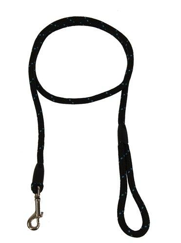 Rosewood hondenriem touw zwart / blauw