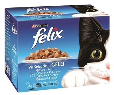 Felix pouch vis selectie in gelei