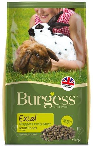 Burgess excel nuggets with mint rabbit adult konijnenvoer