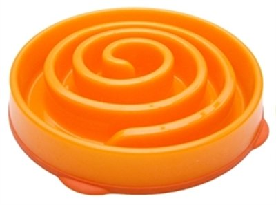 Slo-bowl feeder mini coral spiraal oranje