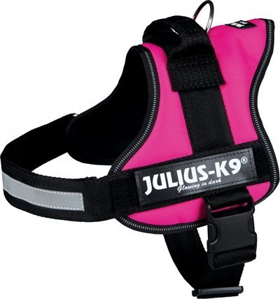 Julius k9 power-harnas / tuig voor labels fuchsia