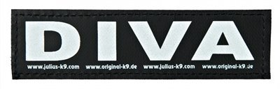 Julius k9 labels voor power-harnas / tuig diva