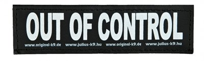 Julius k9 labels voor power-harnas / tuig out of control