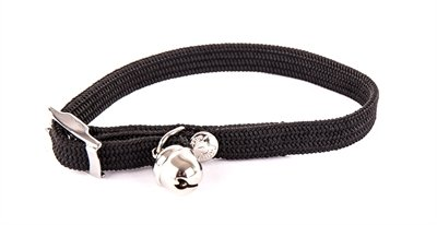 Halsband kat elastisch nylon zwart