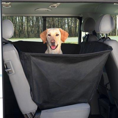 Trixie auto-hondendeken met deurbescherming zwart