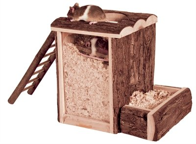 Trixie natural living speel- en graaftoren hamster
