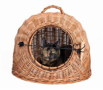 Trixie rotan kattenmand met deur