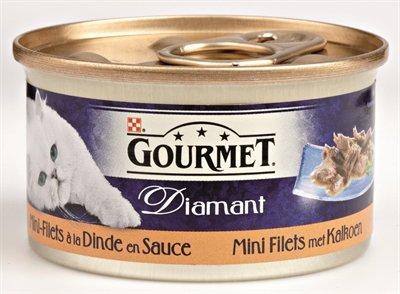 Gourmet diamant mini filets met kalkoen