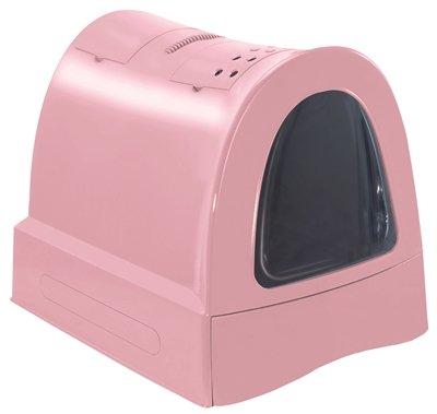 Imac kattenbak zuma met schuiflade roze