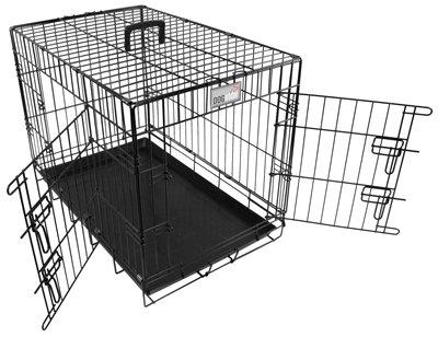 Doginox bench 2-deurs zwart