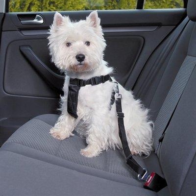 Trixie hondentuig auto incl gordel zwart