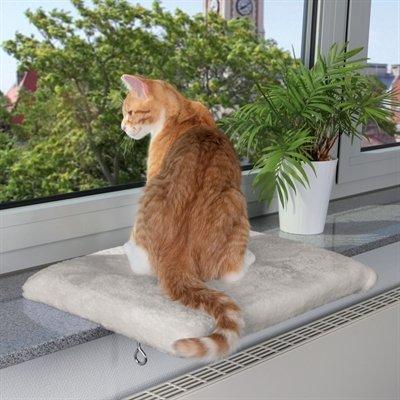 Trixie kattenmand plateau vensterbank lichtgrijs