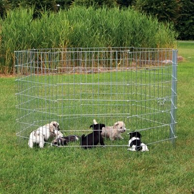 Trixie natura puppyren gegalvaniseerd metaal 8 panelen