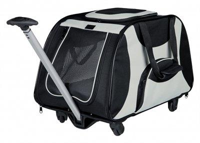 Trixie reismand trolley zwart / lichtgrijs