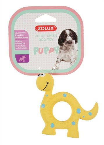 Zolux puppyspeelgoed latex dino geel
