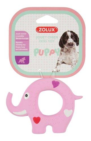 Zolux puppyspeelgoed latex olifant roze