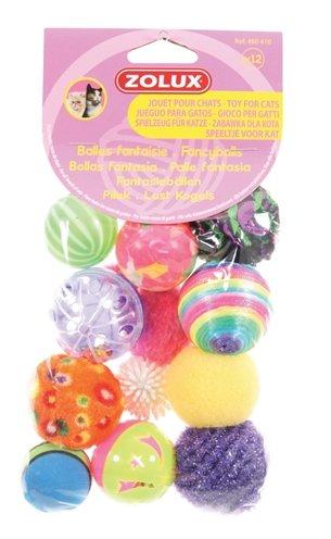 Zolux kattenspeelgoed fancy gekleurde ballen assorti