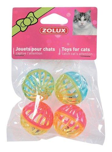 Zolux kattenspeelgoed bal met bel assorti