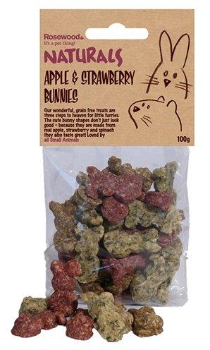 Rosewood appel / aardbeien konijntjes