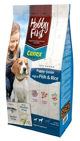 Hobbyfirst canex puppy/junior brocks rich in fish & rice