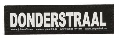 Julius k9 labels voor power-harnas/tuig donderstraal