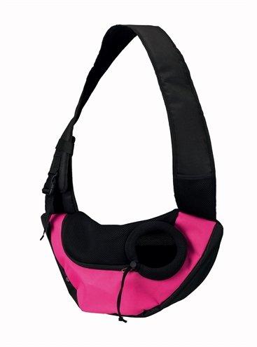 Trixie buikdrager sling draagtas roze/zwart