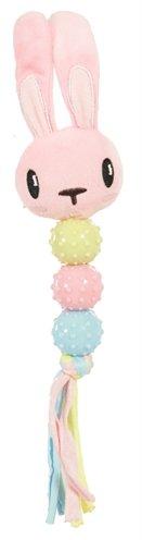Zolux puppyspeelgoed plush ratel konijn roze