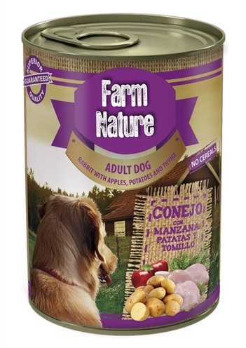 Farm nature rabbit / potatoes / apples / thyme