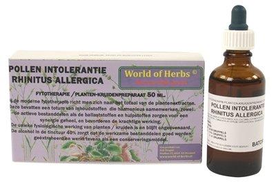World of herbs fytotherapie pollen intolerantie