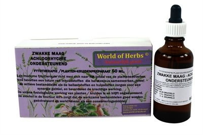 World of herbs fytotherapie zwakke maag achloorhychie