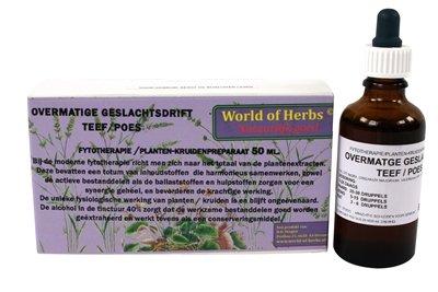 World of herbs fytotherapie overmatige geslachtsdrift teef / poes