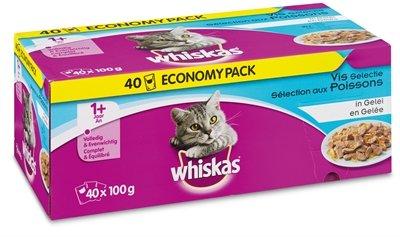 Whiskas multipack pouch adult vis selectie in gelei