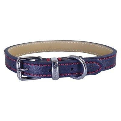 Rosewood halsband hond leer donkerblauw