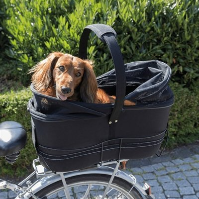 Trixie fietsmand bagage drager breed zwart