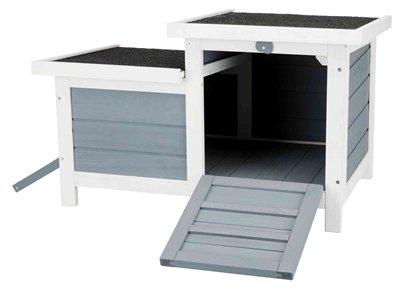 Trixie knaagdierhuis met 2 ingangen grijs / wit