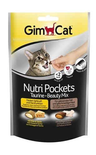 Gimcat nutri pockets taurine-beautymix kaas / taurine
