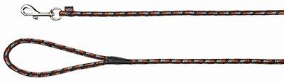 Trixie hondenriem mountain rope zwart / oranje
