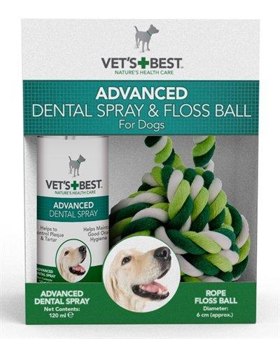 Vets best dental spray met floss kit