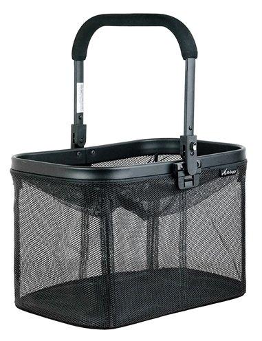 Airbuggy multi basket hondenbuggy mesh zwart