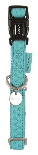 Macleather halsband blauw