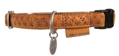 Macleather halsband bruin