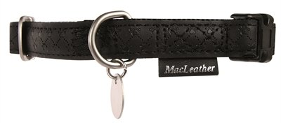 Macleather halsband zwart